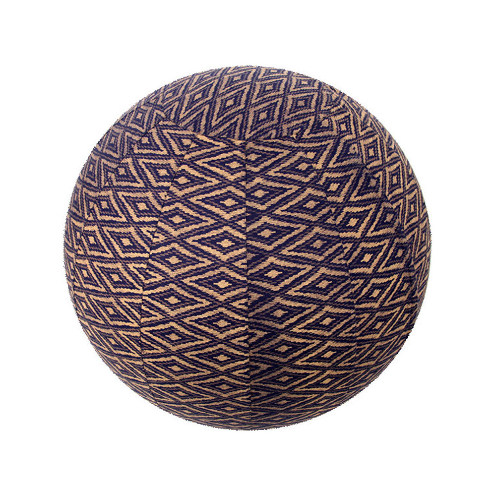Yoga Ball Cover Size 65cm Design Navy Ikat - Global Groove