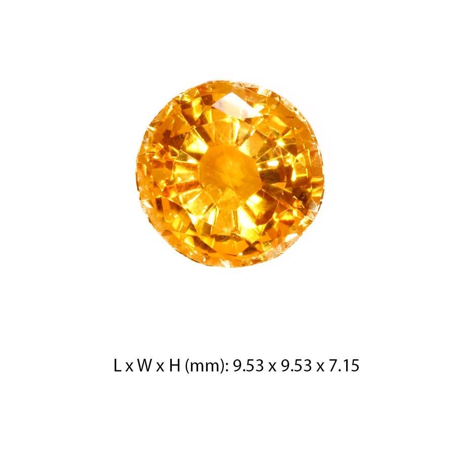 Citrine Gemstone Round Cut