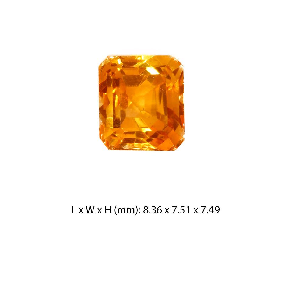 Citrine Gemstone Square Cut