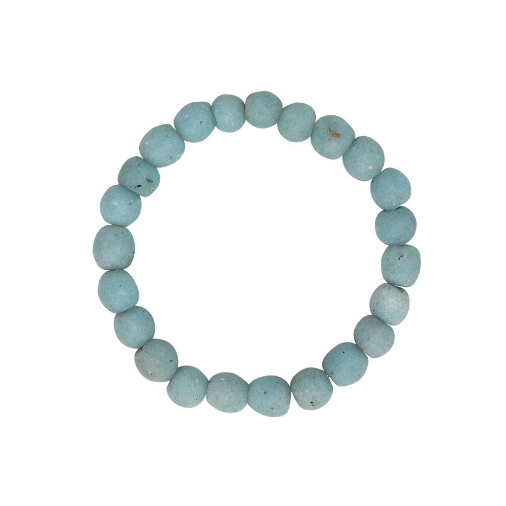Global Mamas Glass Pearls Bracelet Light Blue - Global Mamas