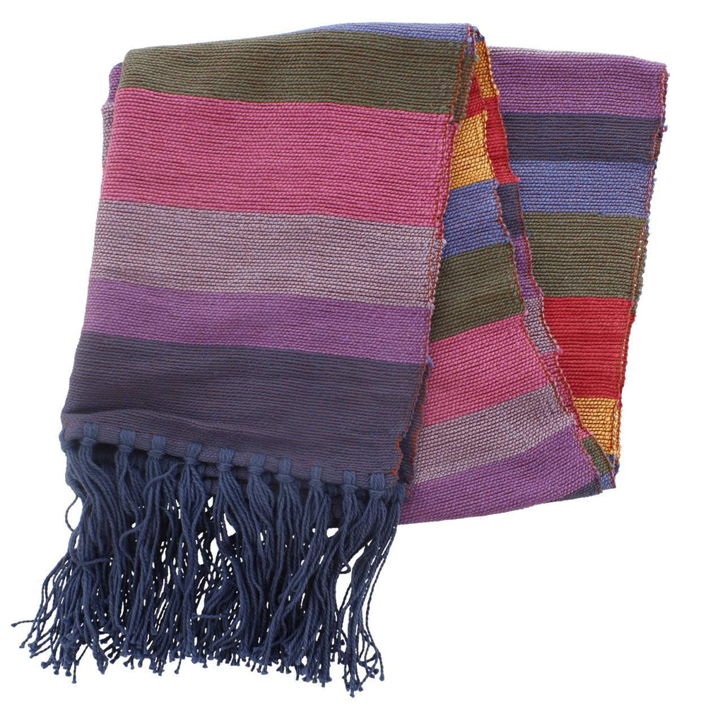 Striped Pure Bamboo Scarf-Clothing & Accessories-Zawadee.com