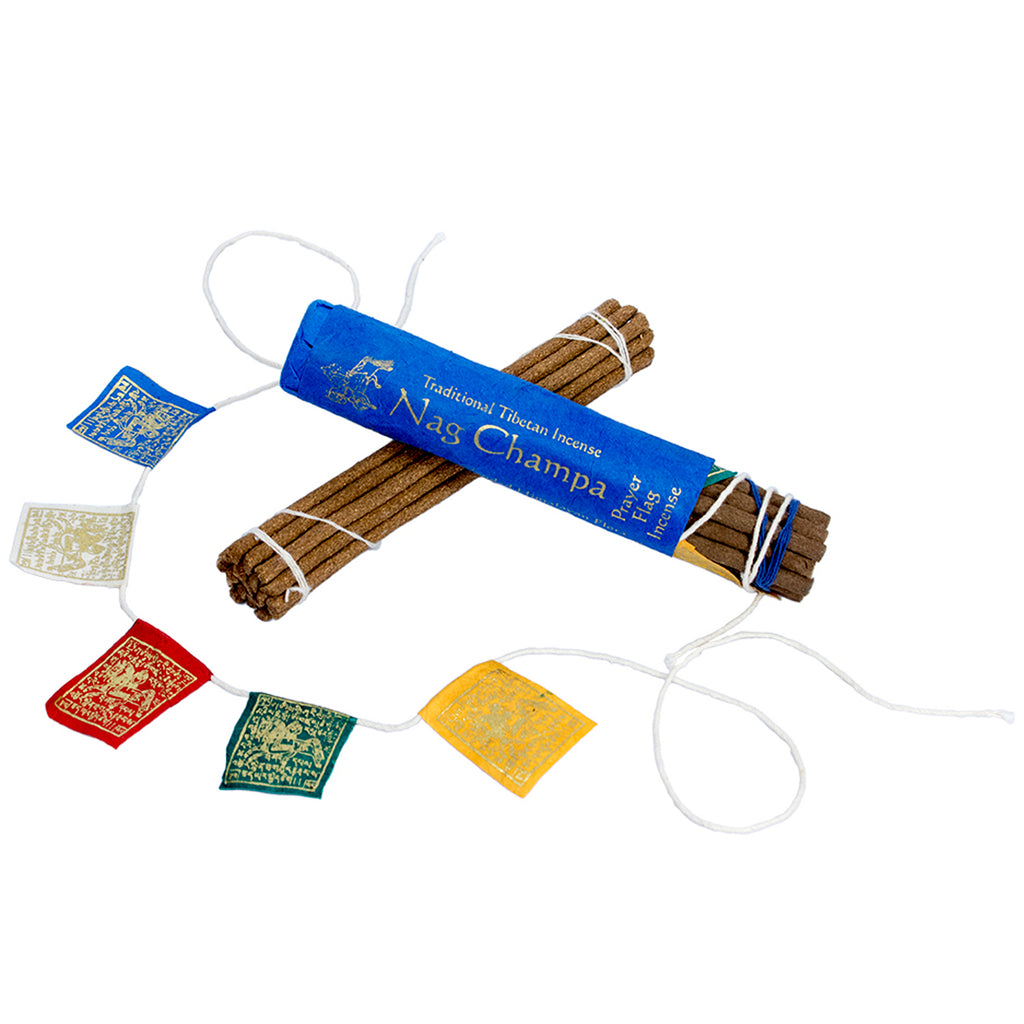 Prayer Flag and Incense Roll Nag Champa DZI