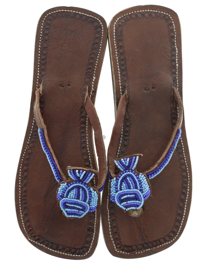 Leather Sandals Size 11 (US) 42 (EURO)-Clothing & Accessories-Zawadee.com USA