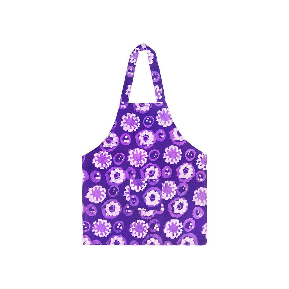 Kids Apron Meadow Purple Organic Cotton Global Mamas