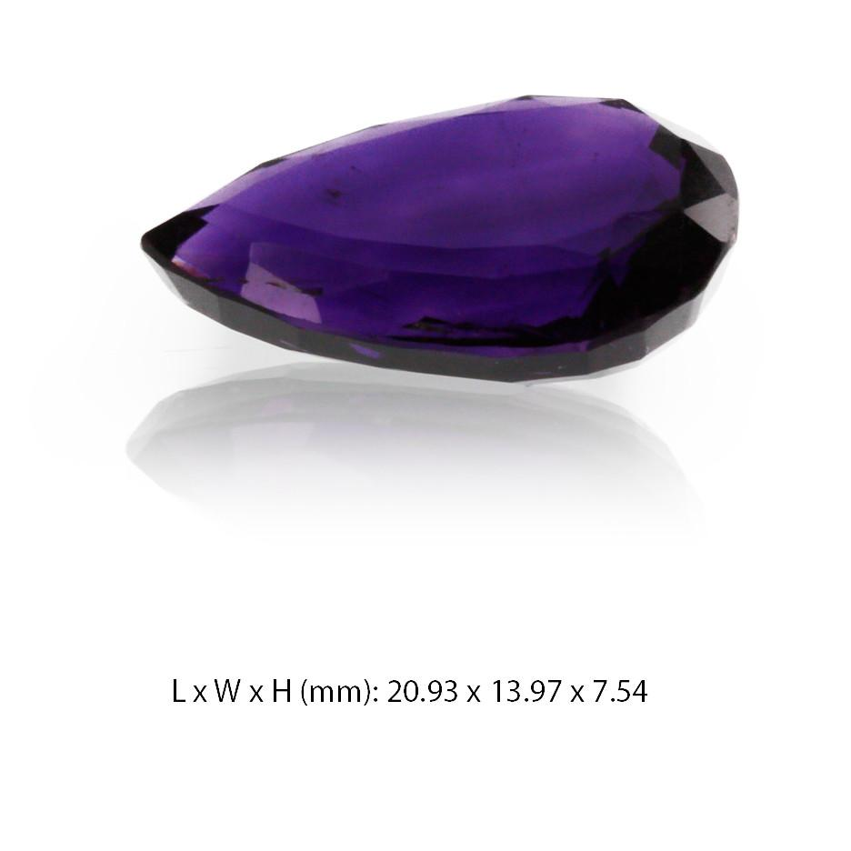 Amethyst Gemstone - Pear Cut