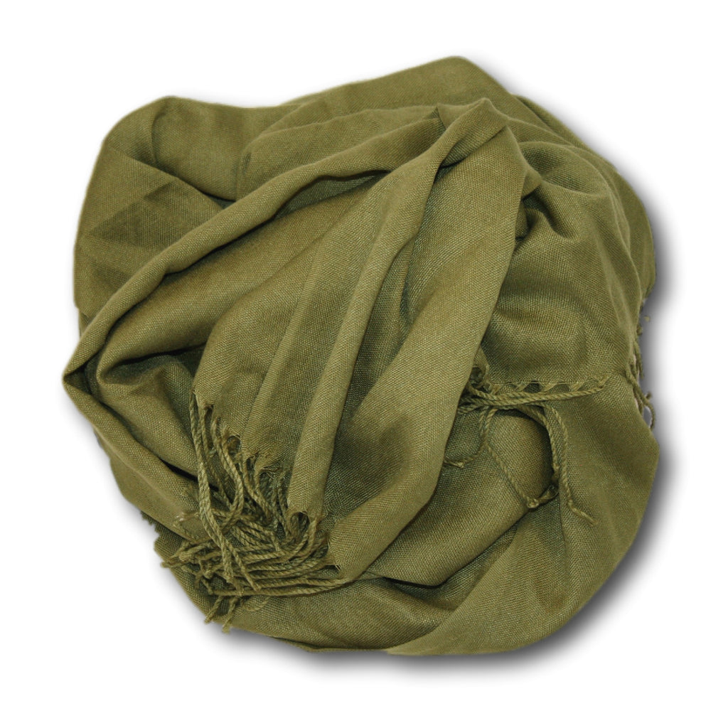 Pashmina-Style Womens Shawl 26 inches wide by 72 inches long Alligator Pear
