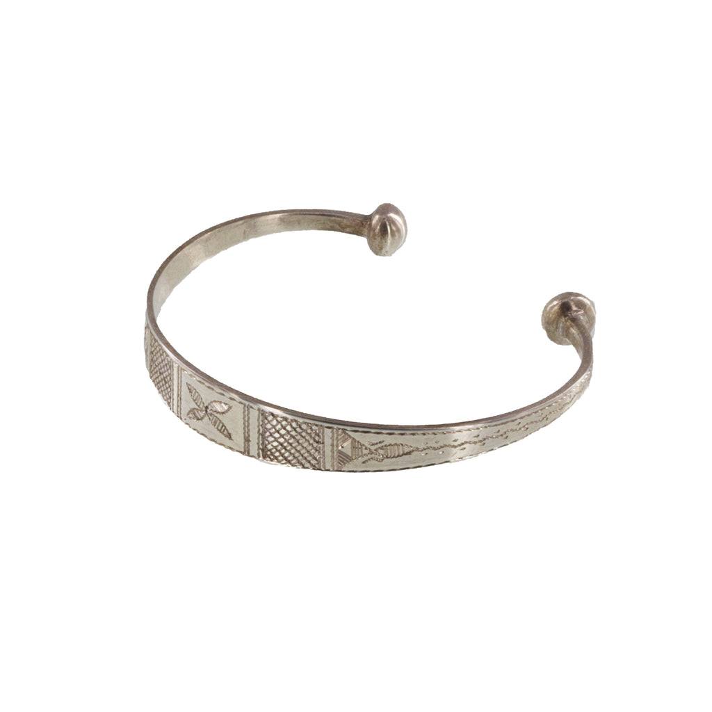WINITRAN | Fine Silver Etched Bangle Bracelet | The Azel Collection
