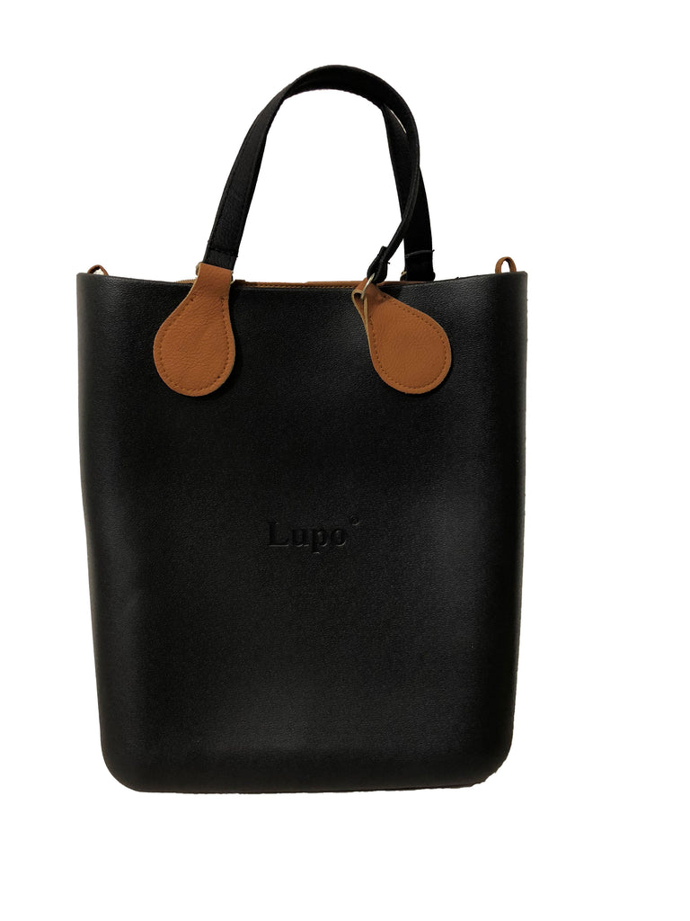 Jelly Long Tote Bag Chocolate Brown Interior & Straps