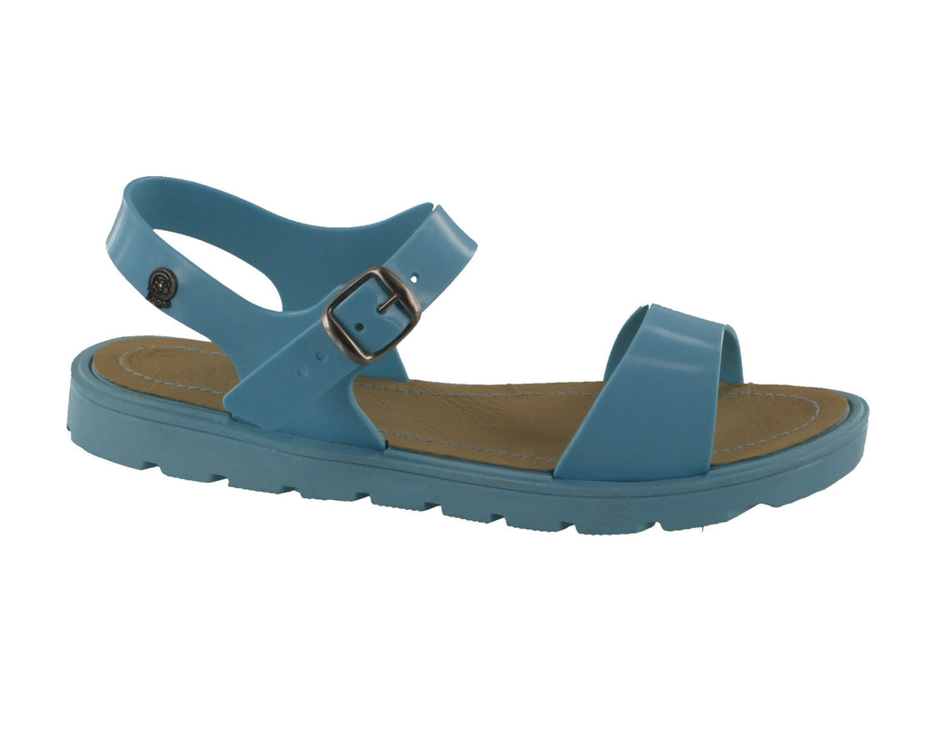 Jelly Footwear Sandal Strappy Flat Turquoise