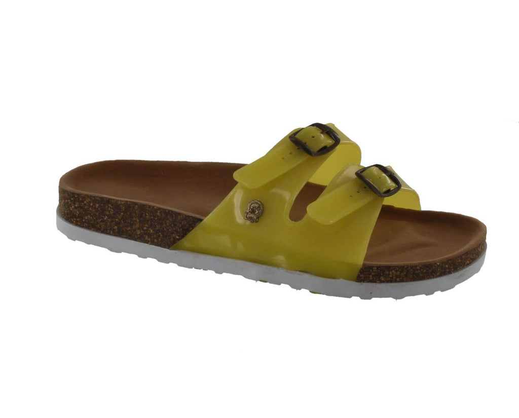 Jelly Footwear Sandal 2 Strap Slide Style Yellow
