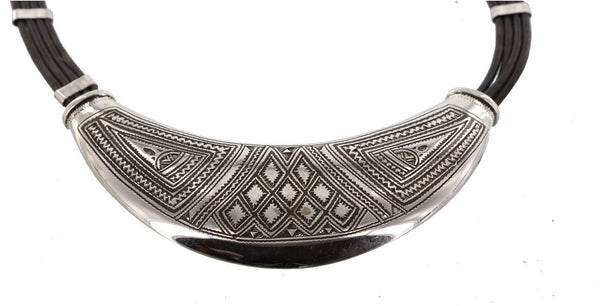 Crescent Collar with Triangular Motif