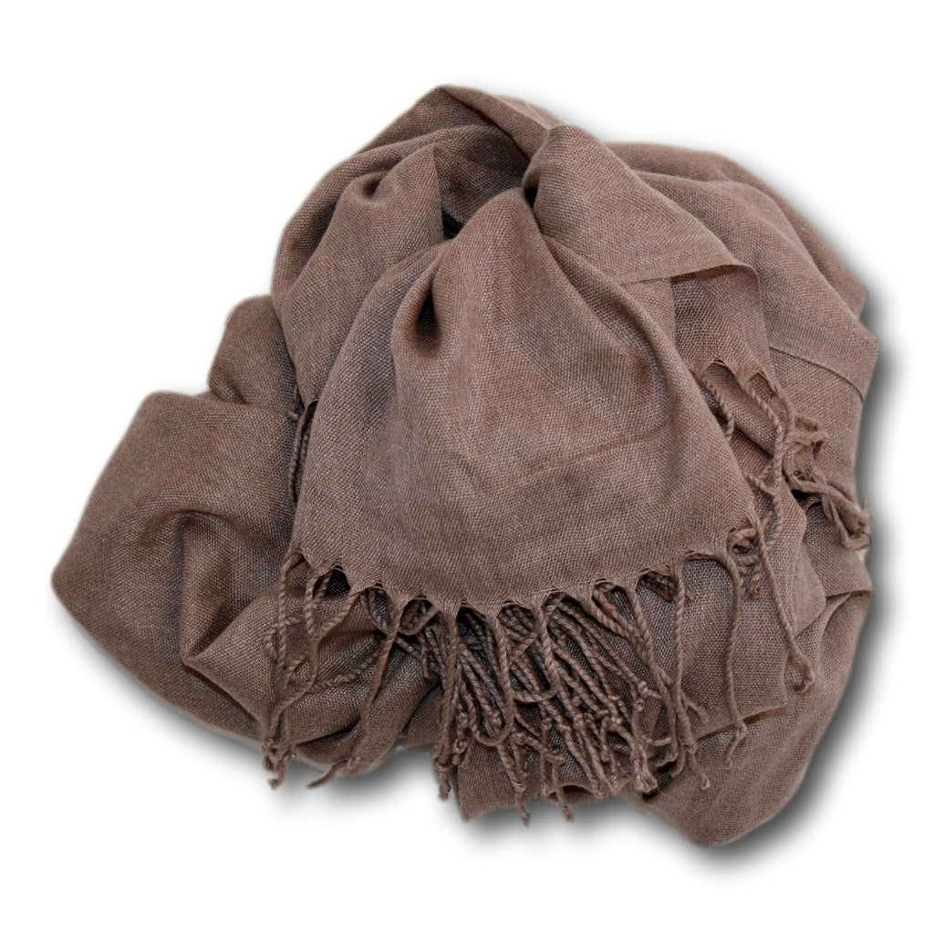 Pashmina-Style Womens Shawl 26 inches wide by 72 inches long Frothy Cappuccino