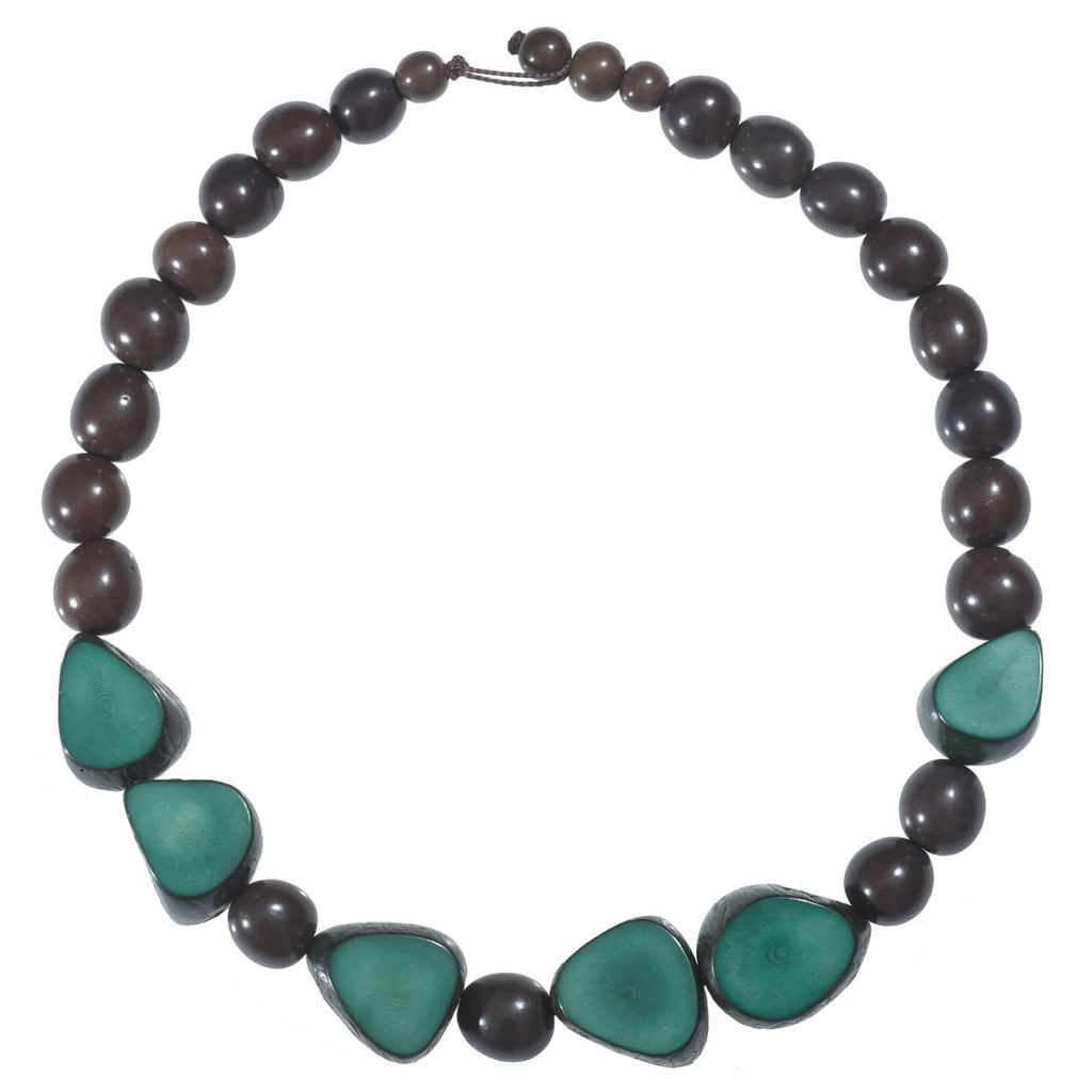 Gemma Tagua Necklace in Hunter Green Faire Collection