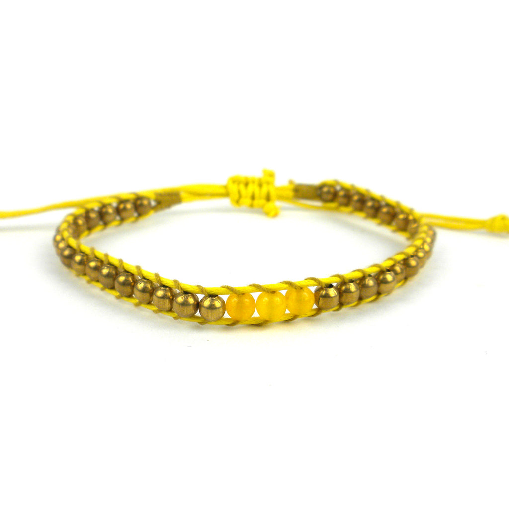 3rd Chakra Bracelet Yellow Global Groove