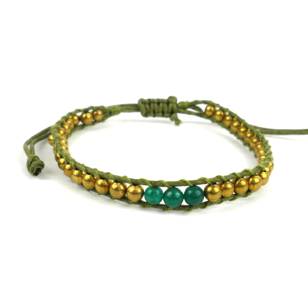 4th Chakra Bracelet Green Global Groove