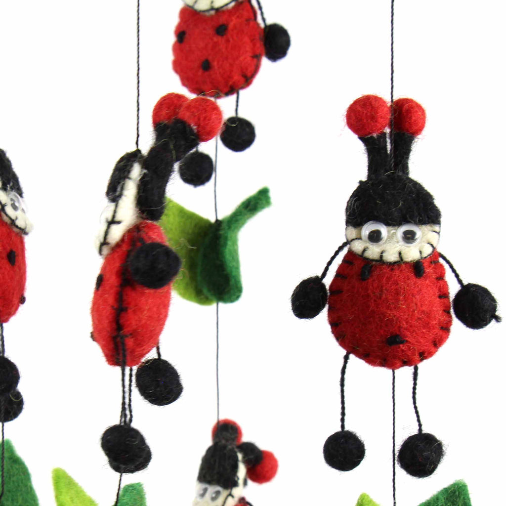 Felt Lady Bug Mobile - Global Groove