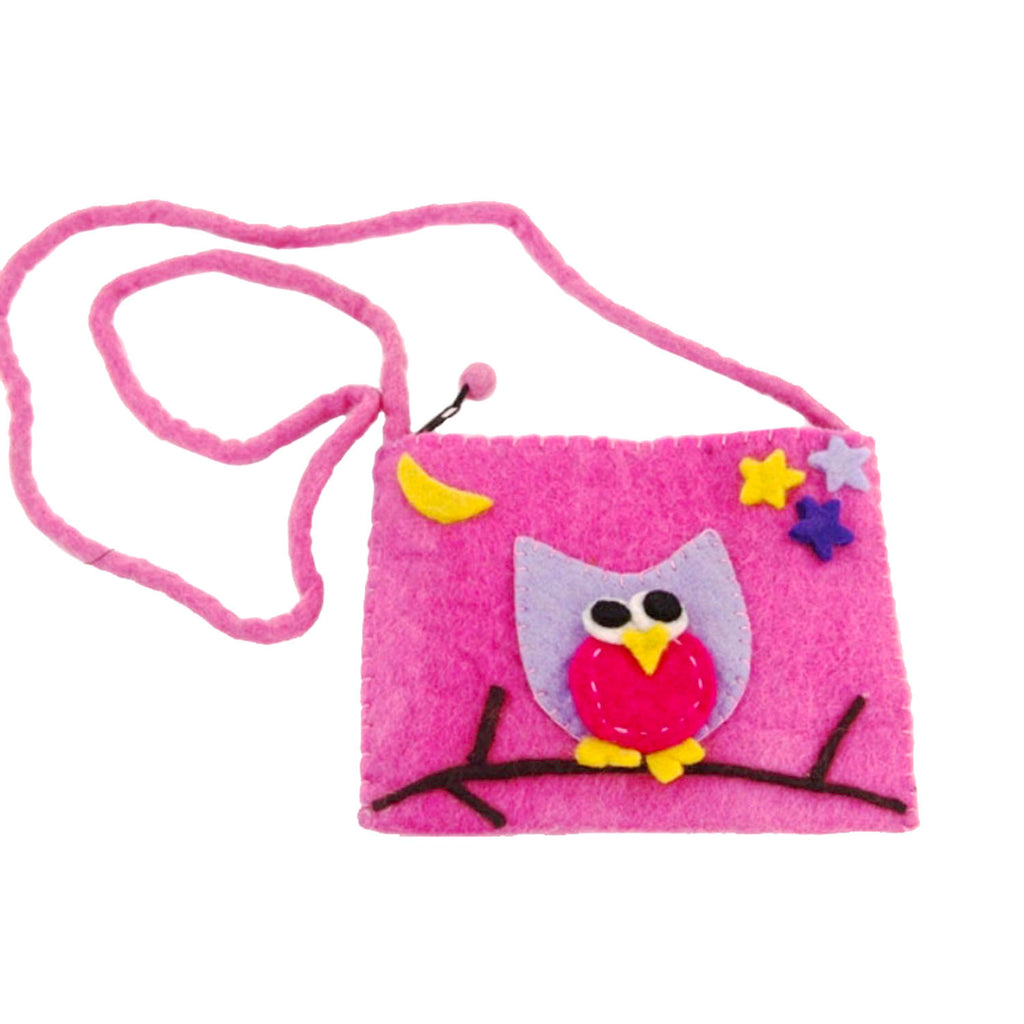 Felt Owl Purse - Global Groove