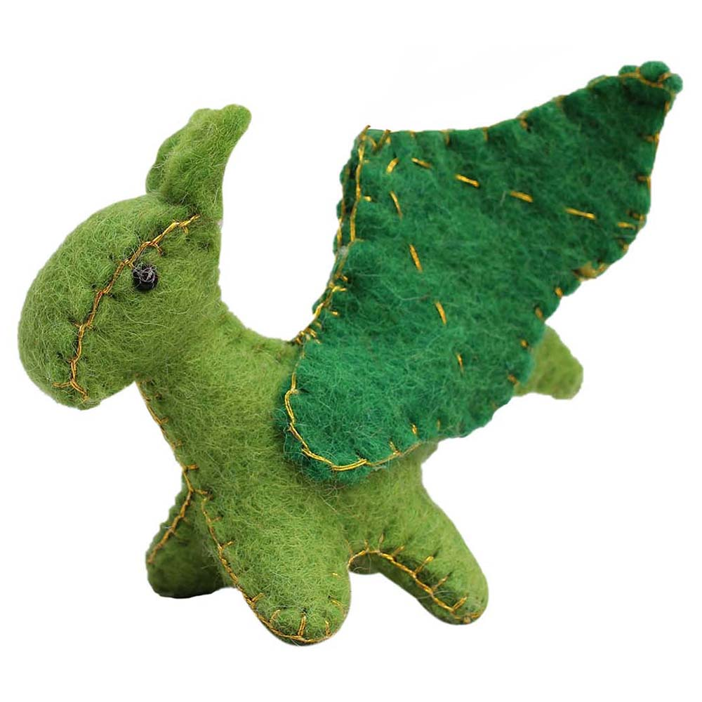 Felt Green Dragon Toy - Global Groove