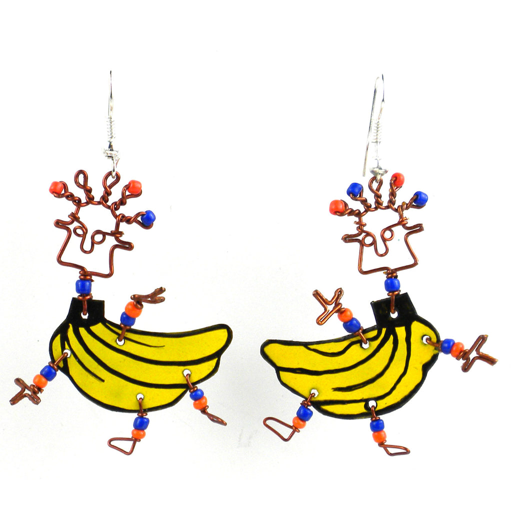 Dancing Girl Go Bananas Earrings - Creative Alternatives