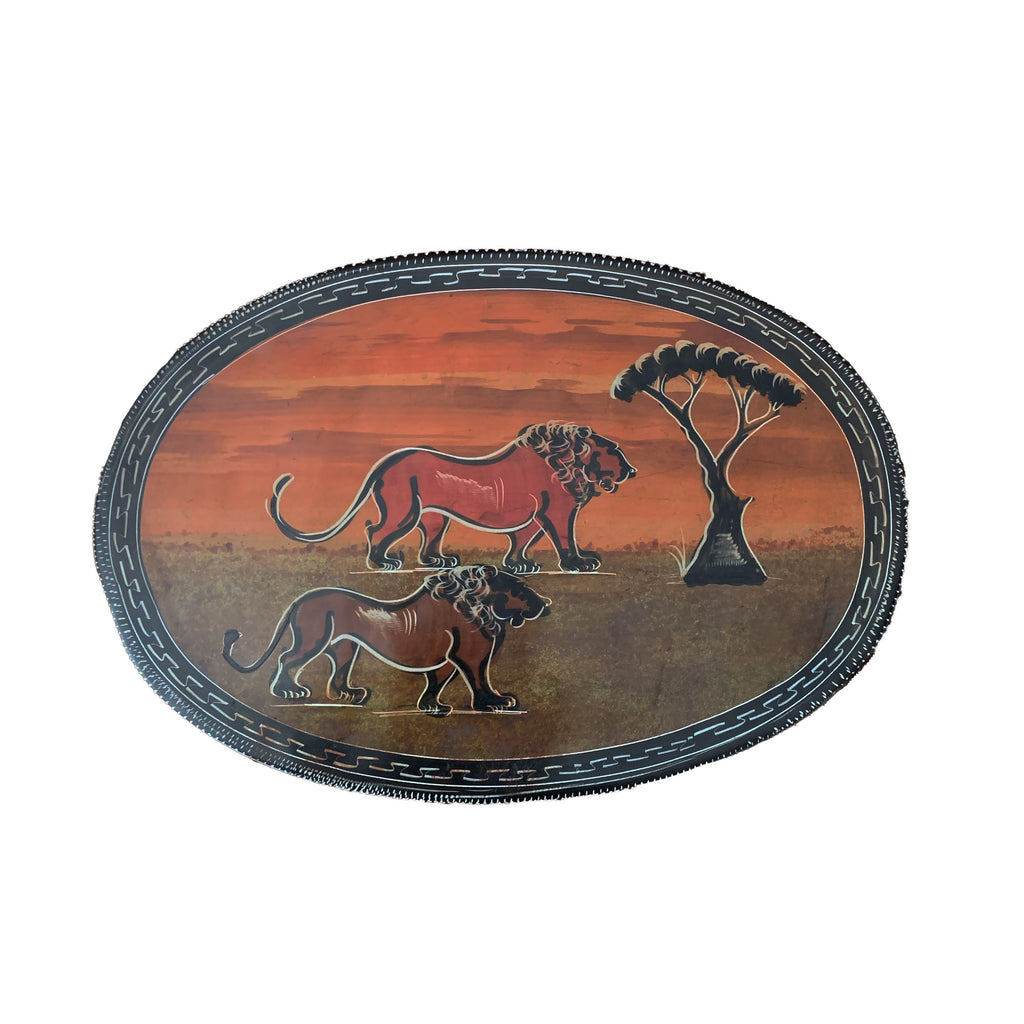 Hand Painted Soapstone Decorative Plate 12, 10, 8, 6 Inches Animals