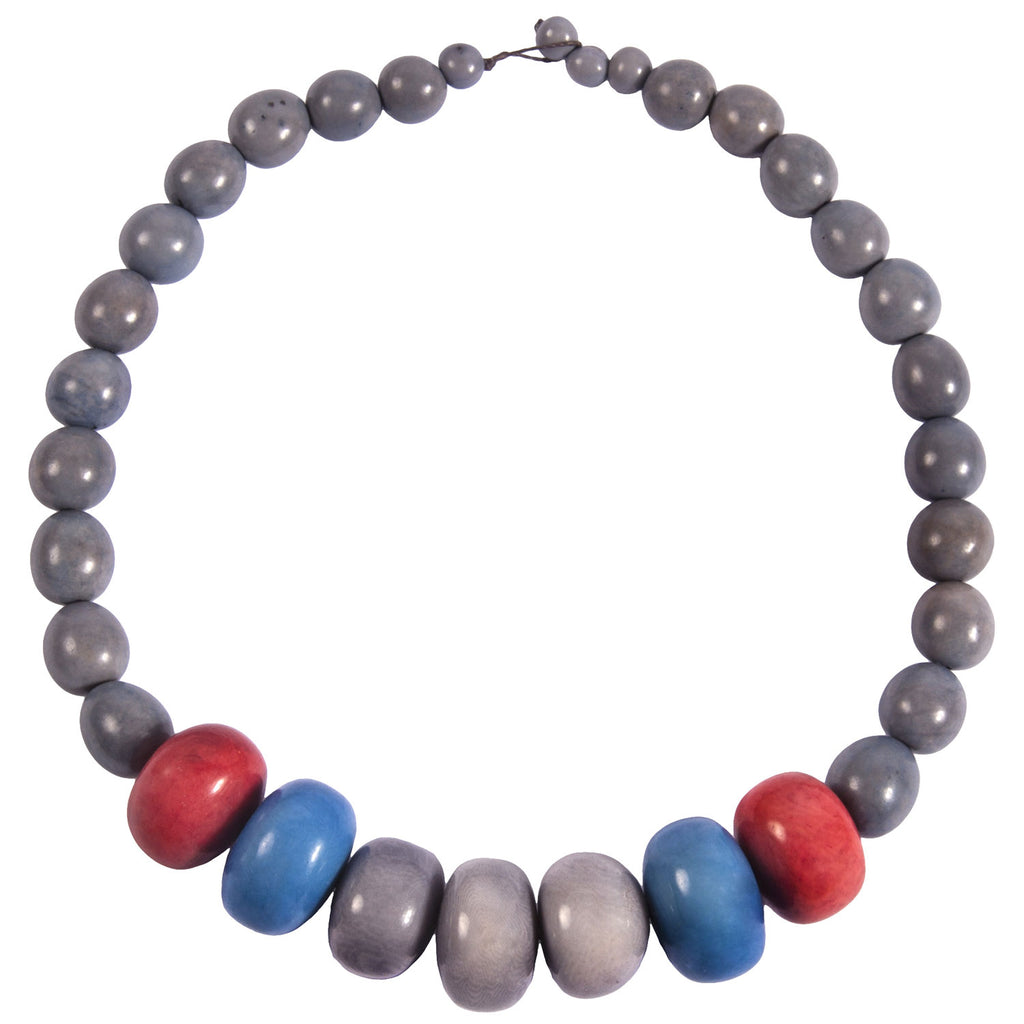 Tagua and Seed Manabi Necklace in Periwinkle Faire Collection