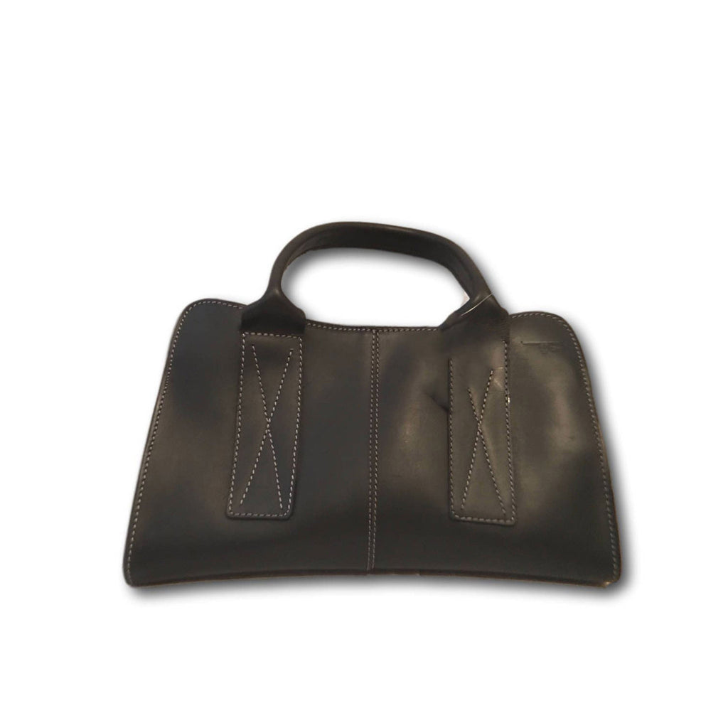Womens Ladysmith Leather Handbag Ebony Black