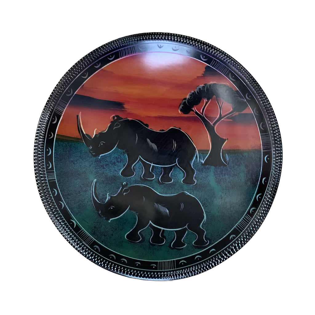 Hand Painted Soapstone Bowls 12, 10, 8, 6 Inches Animals