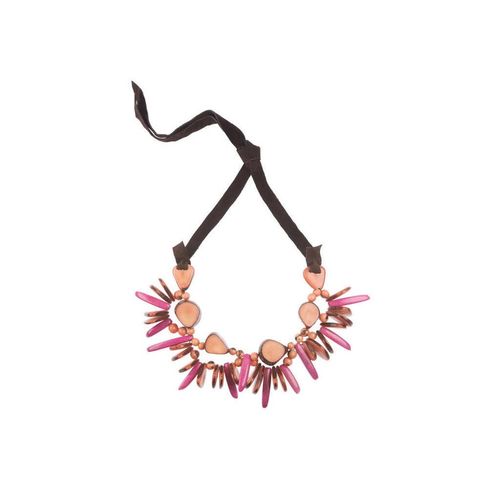Rhumba Necklace in Salmon Faire Collection