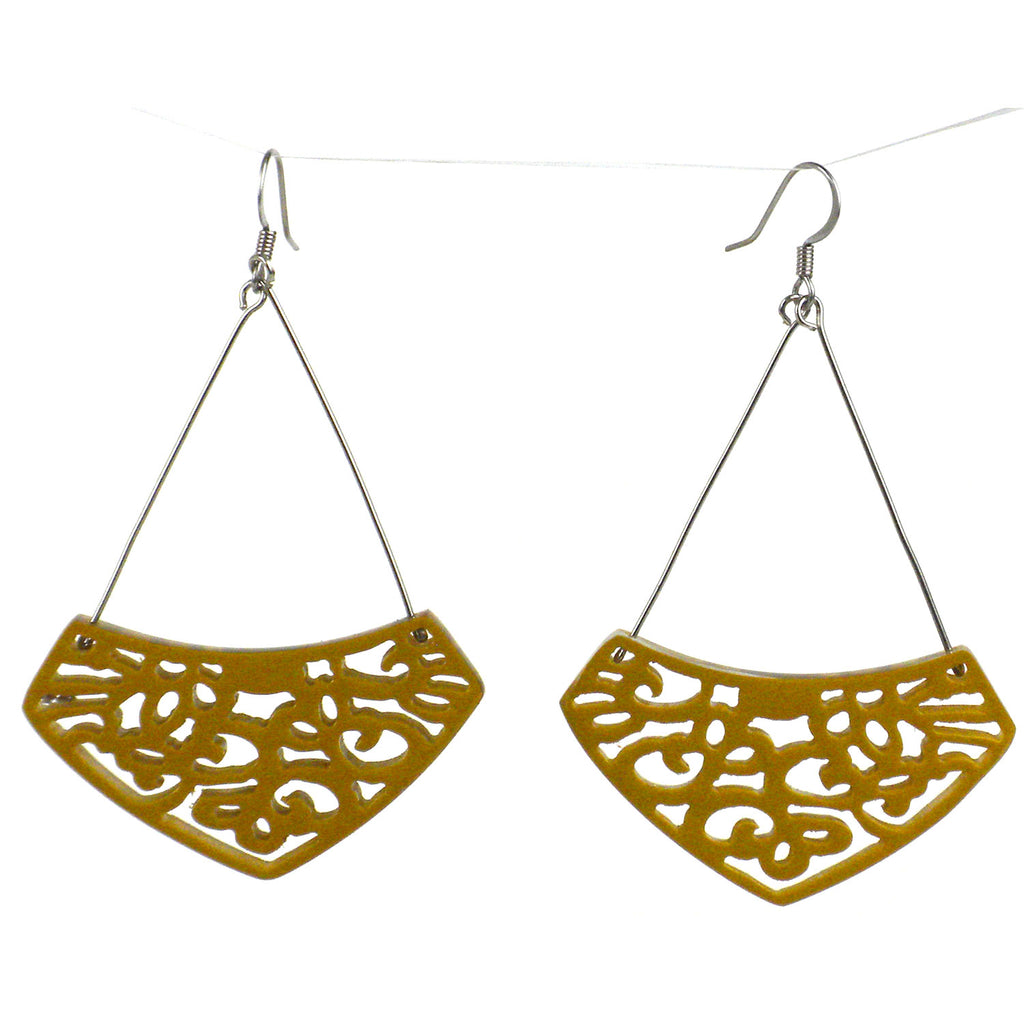 Simone Lace Earrings in Mustard - Faire Collection