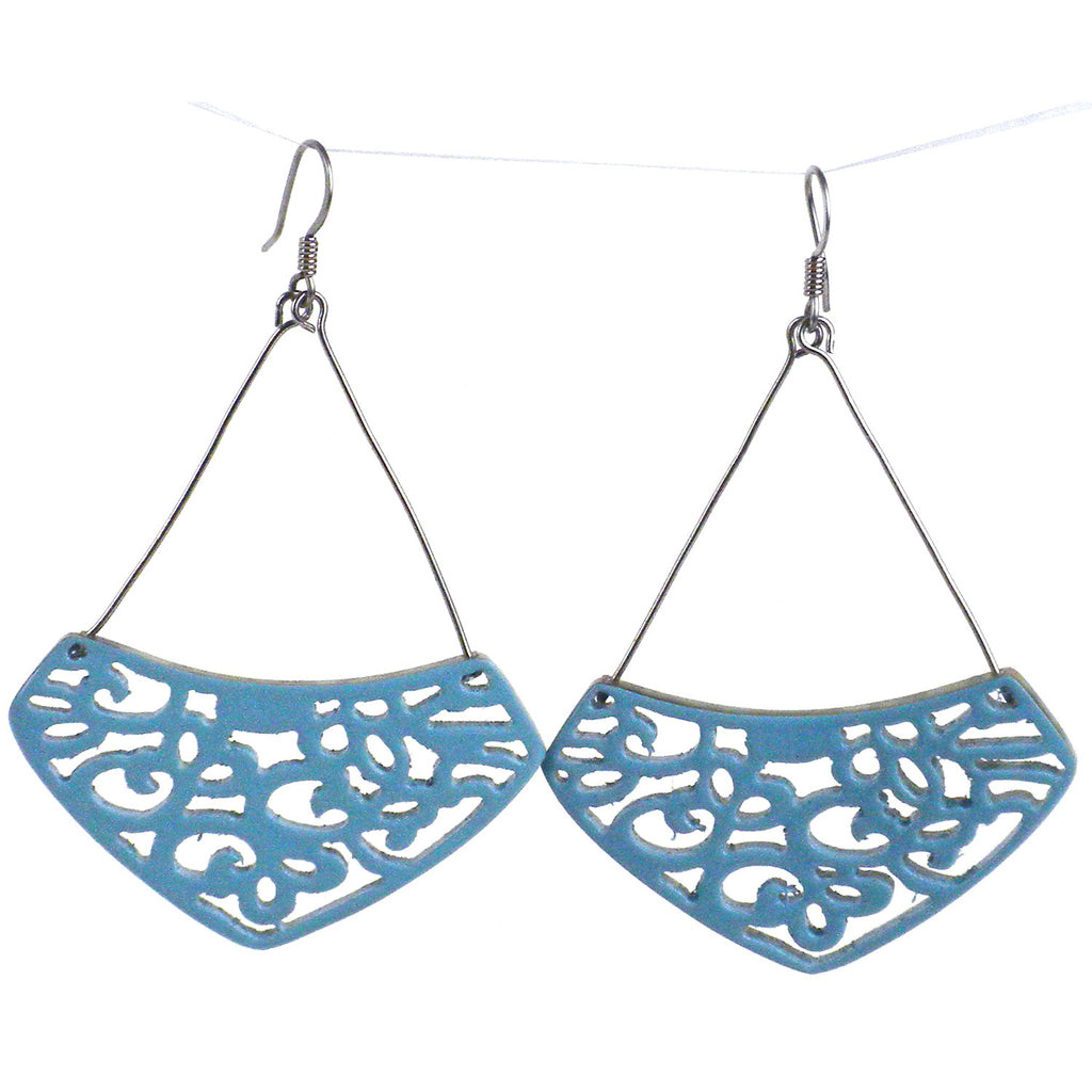 Simone Lace Earrings in Quarry - Faire Collection