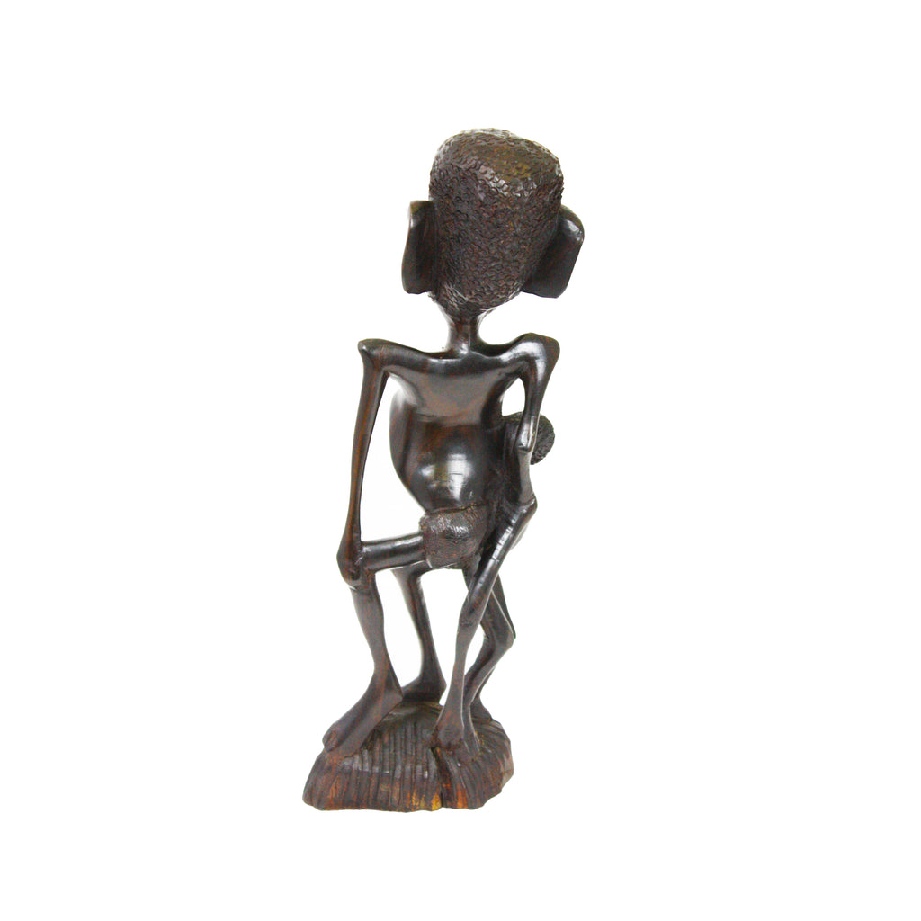 One-of-a-Kind Hand Carved Collectible Figurine Mother Makonde feeding Child