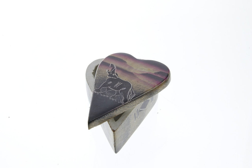 41. Handpainted Heart Shaped Jewelry Box