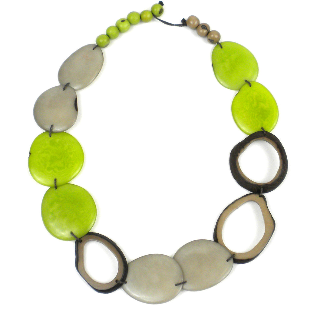 Ventana Tagua Necklace in Cherry Limeade Faire Collection