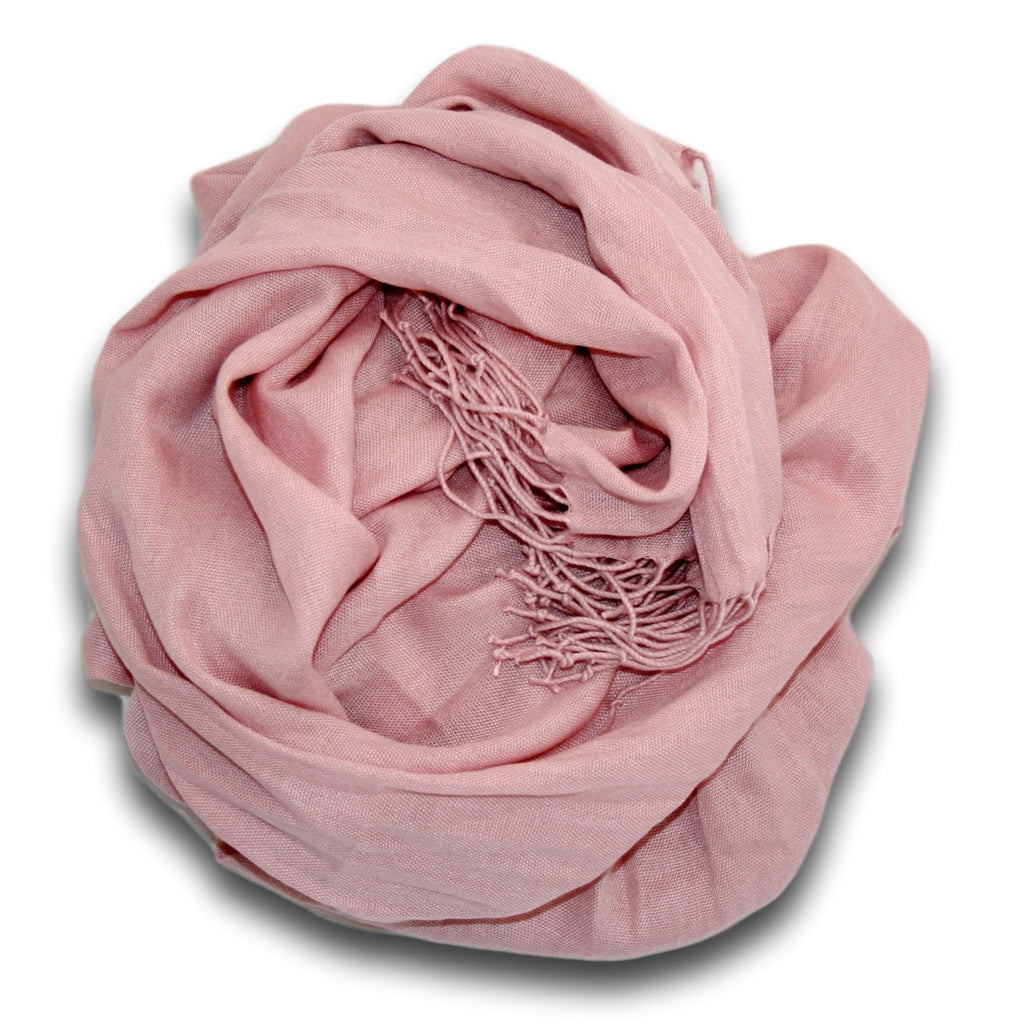 Pashmina-Style Womens Shawl 26 inches wide by 72 inches long Victorian Pink Lace
