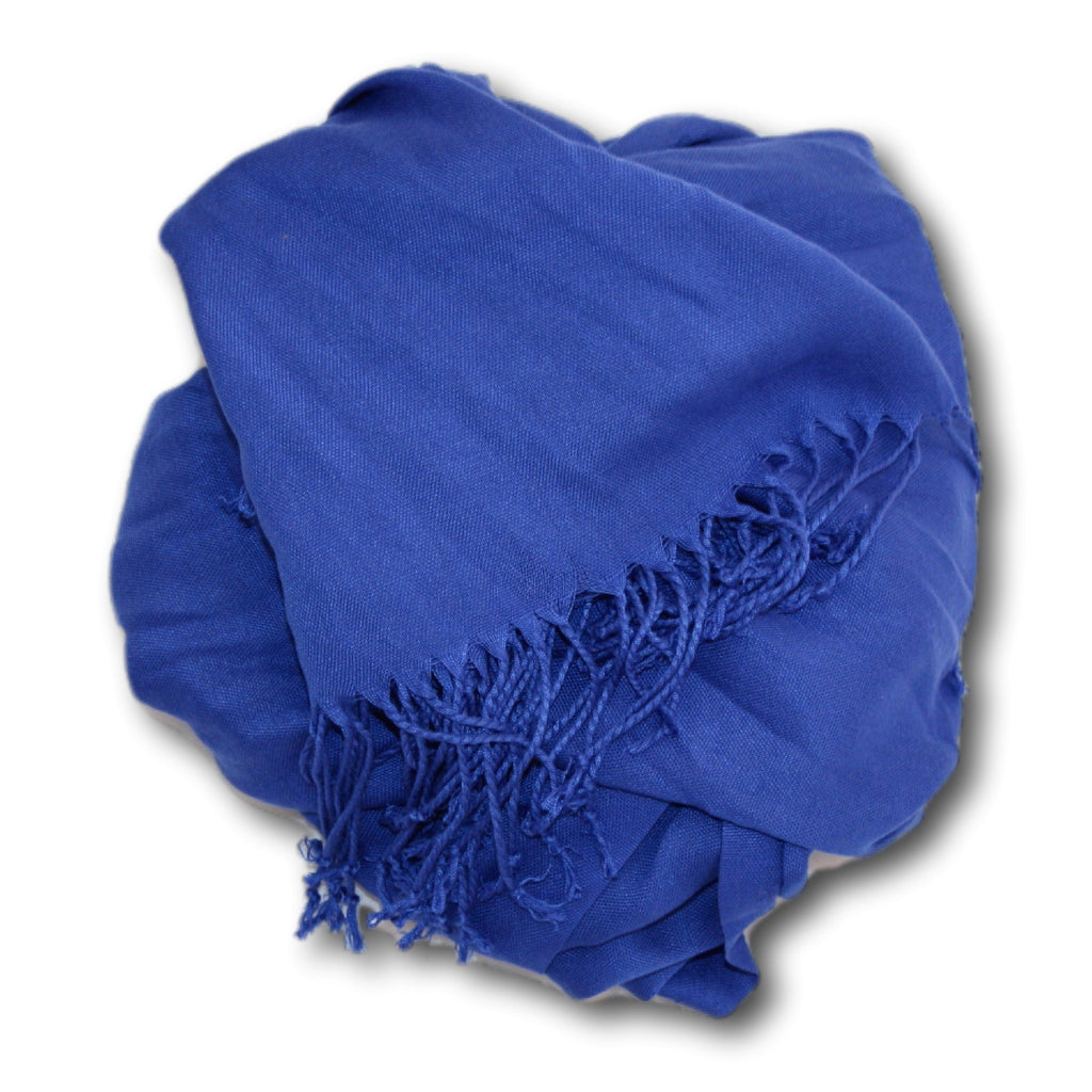 Pashmina-Style Womens Shawl 26 inches wide by 72 inches long Windsor Blue