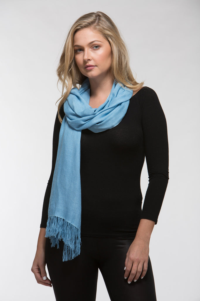 Bamboo Shawl Pure Colour Contemporary The Tsandza Collection