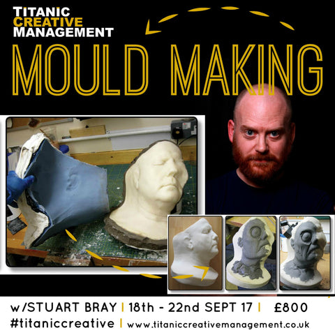 **BURSARIES AVAILABLE** Stuart Bray's Mould Making Course 18th - 22nd Sept 2017