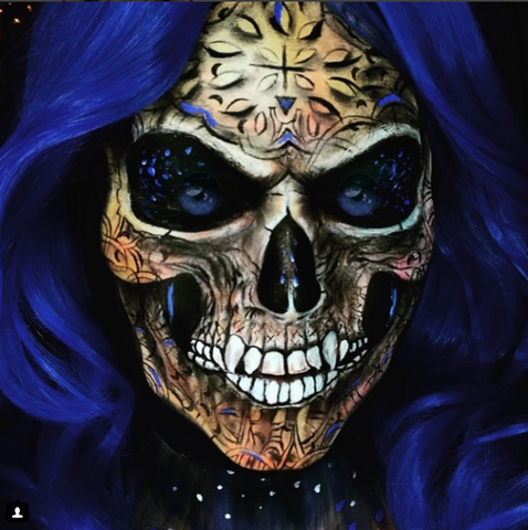 Skulls -v- Sugar Skull Facepainting Workshop with Maria Malone-Guerbaa - Saturday 20th October 2018, Training Courses, Titanic Creative Management, Titanic Creative Management learn, makeup, courses, training, belfast, beauty, sfx, prosthetics, ireland, northern_ireland, united_kingdom, uk, europe, Titanic Creative Management