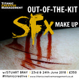 Stuart Bray's 'Out Of The Kit' SFX Weekend - 23rd/24th June 2018, Training Courses, Titanic Creative Management, Titanic Creative Management learn, makeup, courses, training, belfast, beauty, sfx, prosthetics, ireland, northern_ireland, united_kingdom, uk, europe, Titanic Creative Management