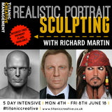 5-Day Realistic Portrait Sculpting with Richard Martin - 4th to 8th June 2018