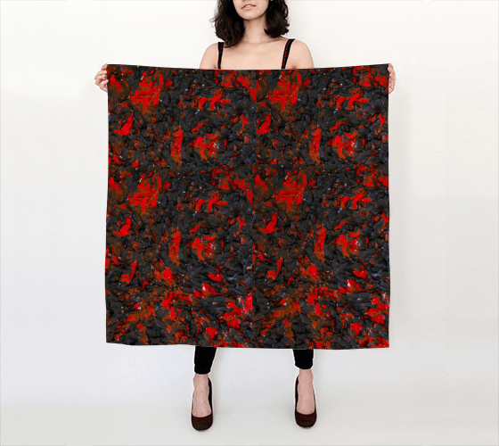 Red Viper Large Scarf