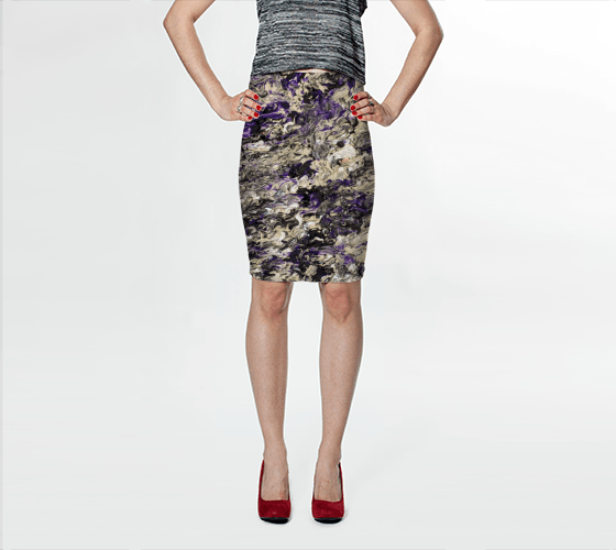 Violet Dream Fitted Skirt