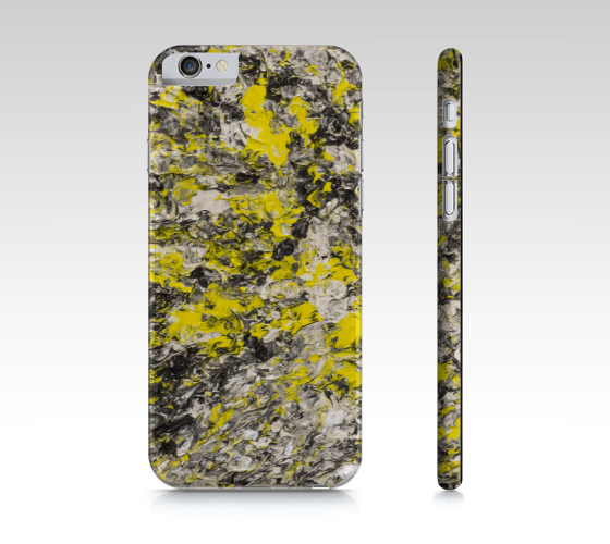 Thinking of Yellow iPhone Case