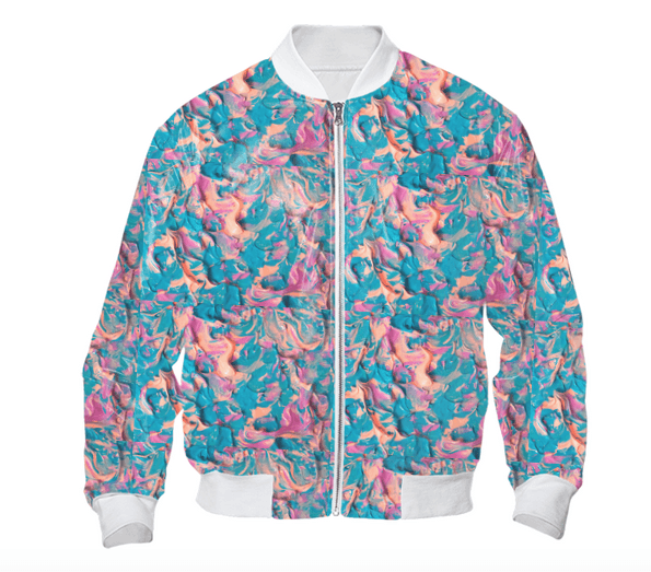 A Pink Imagination Bomber Jacket