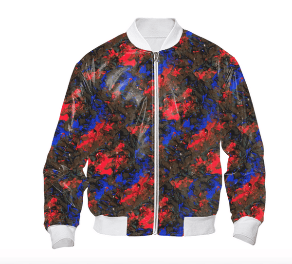 Blue Red Dance Bomber Jacket