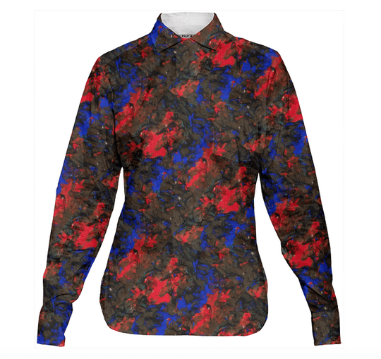 Blue Red Dance Blouse