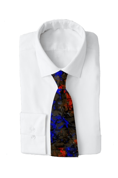 Blue Red Dance Tie