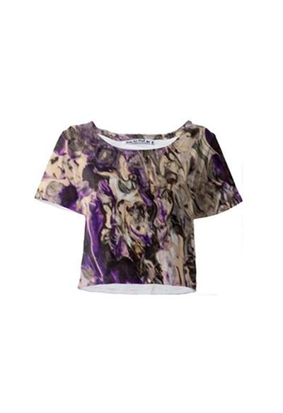 Violet Dream Crop Tee