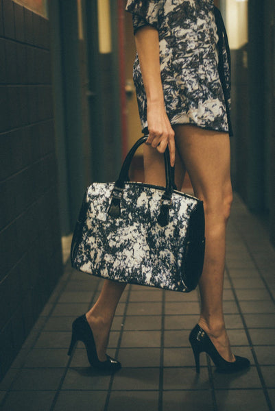 A Moonlit Walk Barrel Bag