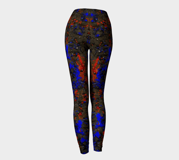 Blue Red Dance Leggings